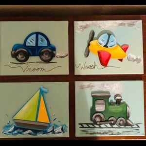 3D four hand made wall art perfect for kids rooms